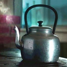 Steaming teakettle