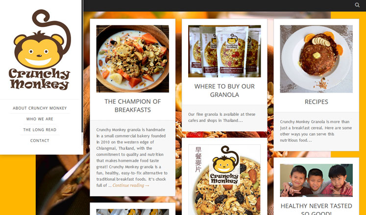 Crunchy Monkey Granola frontpage