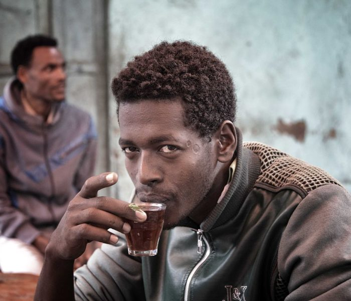 Sipping a cuppa in Ethiopia; by Ron Waddington