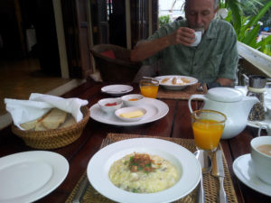 Breakfast at the Apsara Hotel, Luang Prabang, Laos