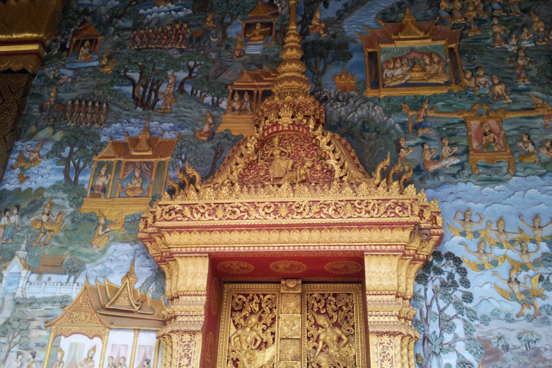 Temple decoration, Luang Prabang, Laos