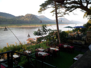 Restaurant overlooking the Mekong River