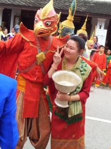 Garuda and peace sign