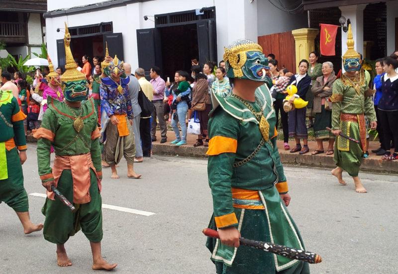 Masked dancers in Luang Prabang