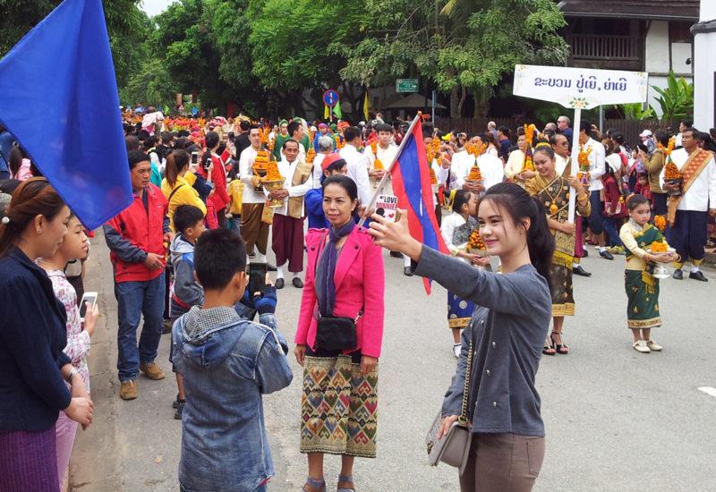 It's selfie time in Laos