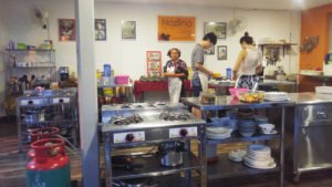 A view of Nazlina's cooking school (click to enlarge)