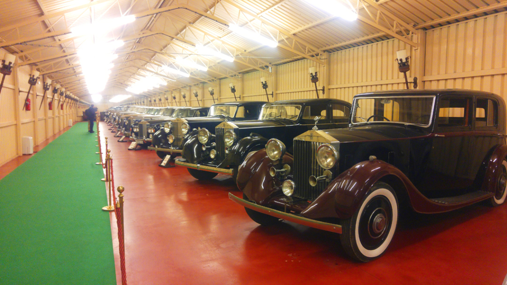 A row of Rolls Royces