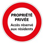 Private property sign in French