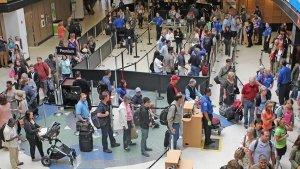 security lines at Seatac Airport