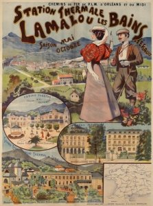 Old promotional poster for the baths at Lamalou-les-Bains