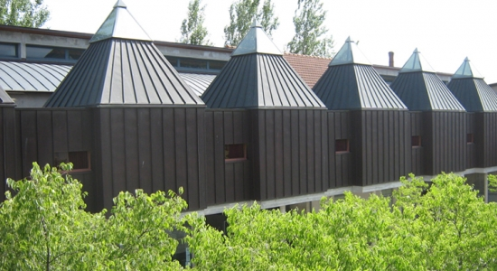 Exterior view of one portion of the bell museum