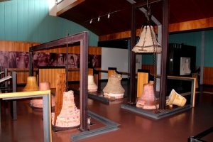 different stages in the making of large bells