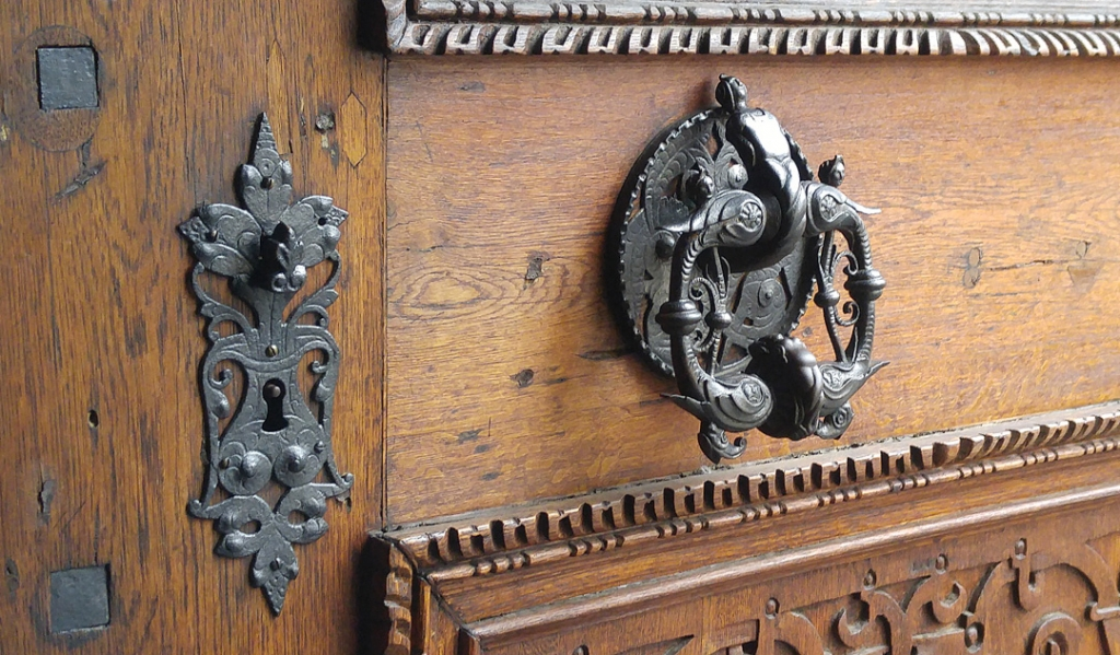 intricate door hardware