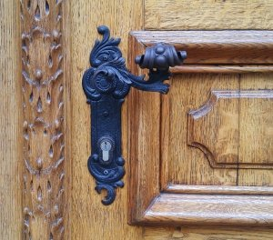 ornate door handle