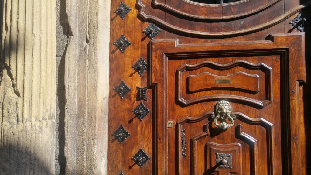 Door with embellishment in London