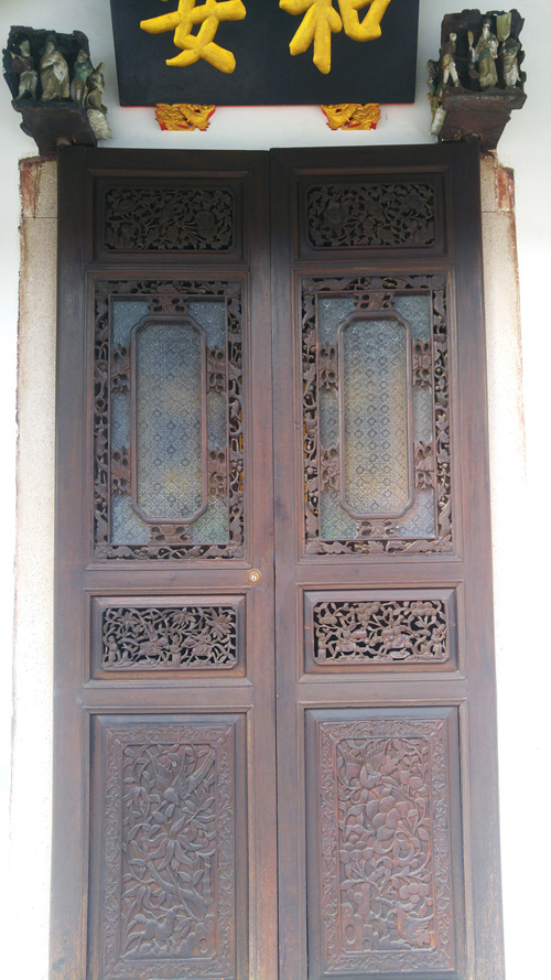 carved Penang doors