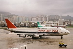 airliners at kai tak airport hong kong