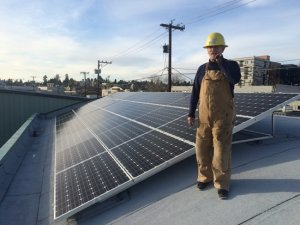 Bill and solar panel array