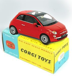Model Fiat on toy box
