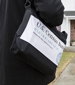 US Census enumerator shoulder bag