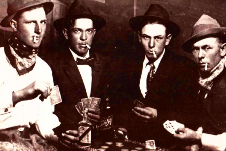 4 men in a poker game