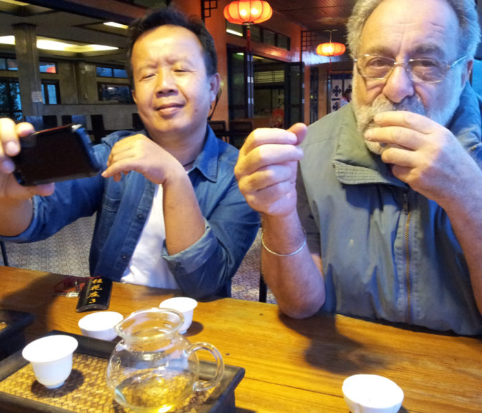 Tea tasting after a long drive in tea area of Chiang Rai, Thailand