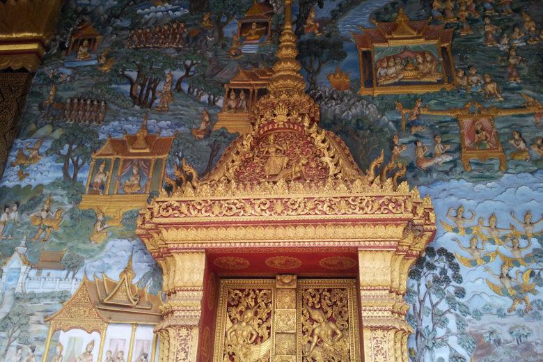 Temple decoration, Luang Prabang, Laos
