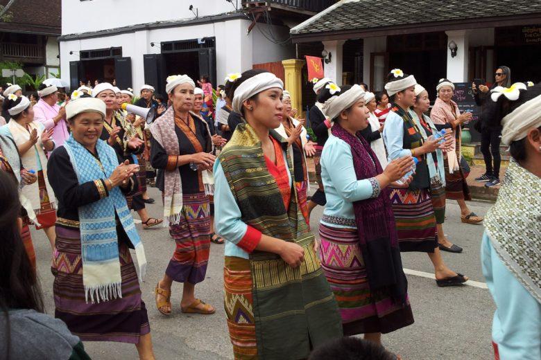 Weavers on parade in Luang Prabang