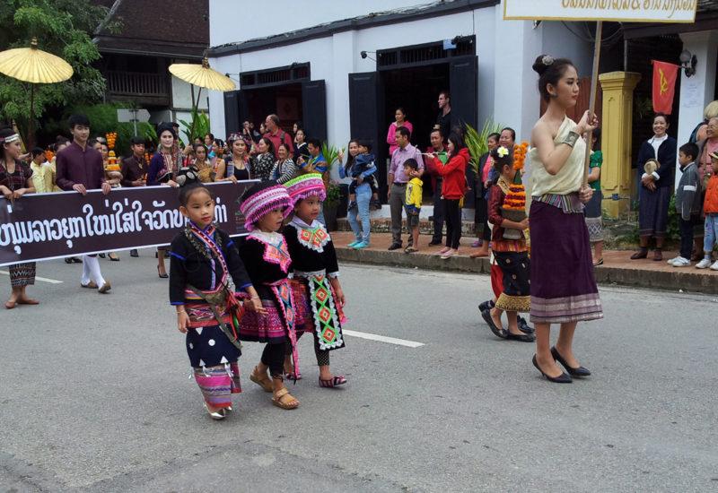 Children in traditional dress