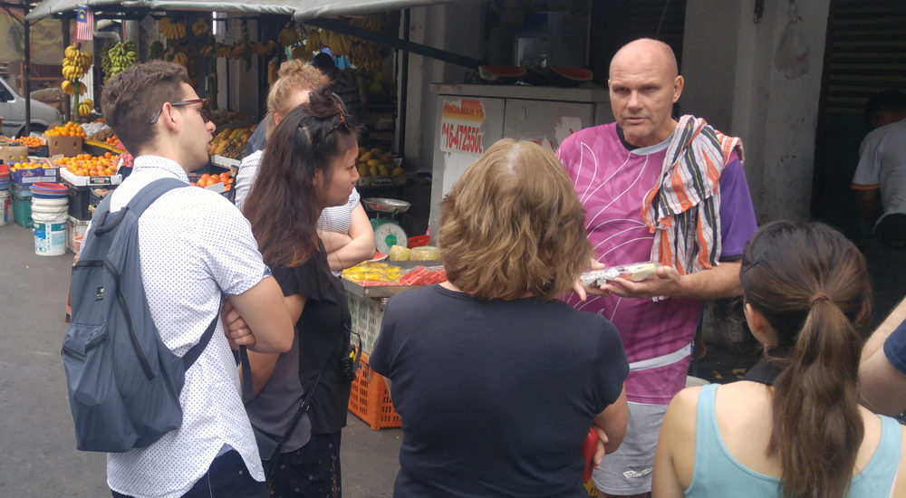 Pieter at the market