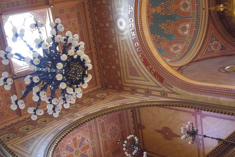 ceiling of the Dohány Street Synagogue in Budapest